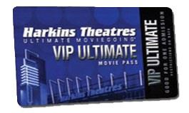 Harkins Tickets Ultimate Moviegoing VIP Ultimate Movie Pass